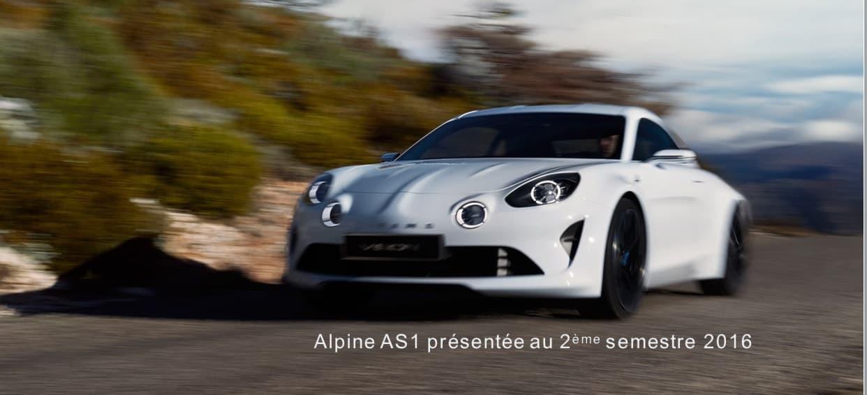 Présentation Alpine AS1 / A120
