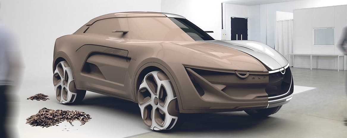 Alpine SUV - Etude de style réalisée par Rashid Tagirov