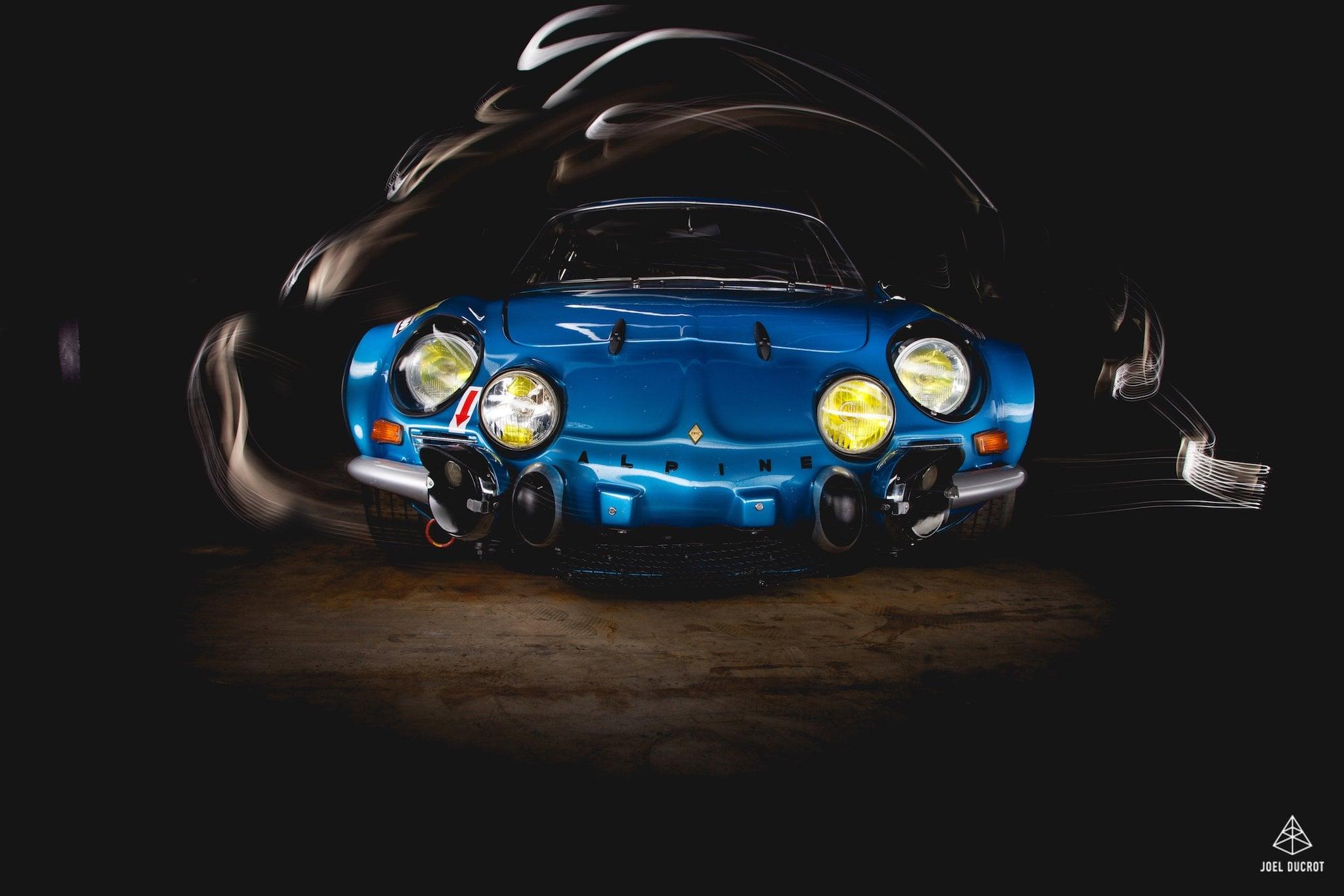 Alpine A110 1800 sous l'oeil de Joël Ducrot