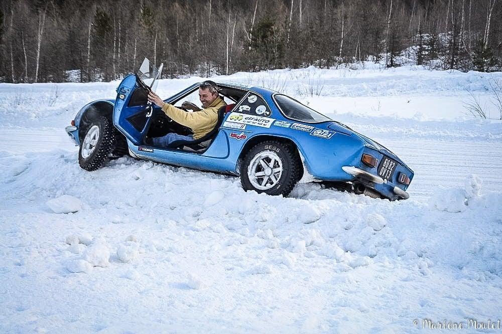 Alpine A110 A310 Orcières piste glace marlene moutet 1 | Des Alpine et 1000 mètres de piste sur glace !