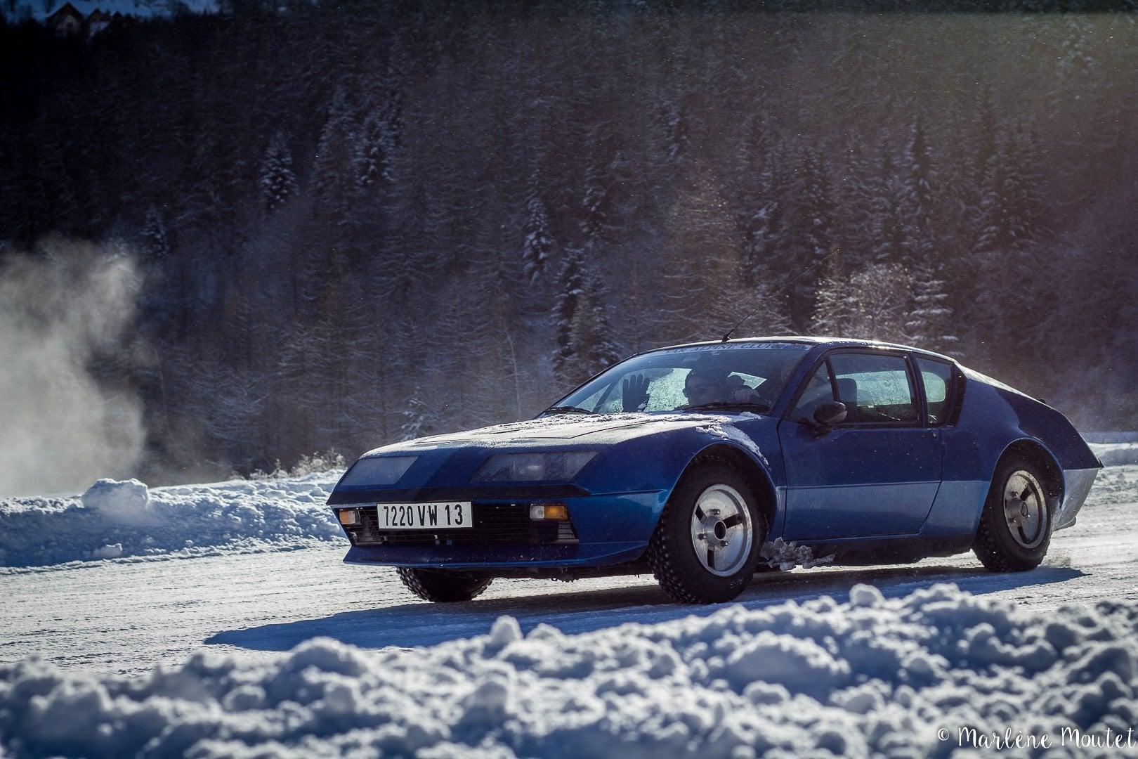 Alpine A110 A310 Orcières piste glace marlene moutet 10 | Des Alpine et 1000 mètres de piste sur glace !