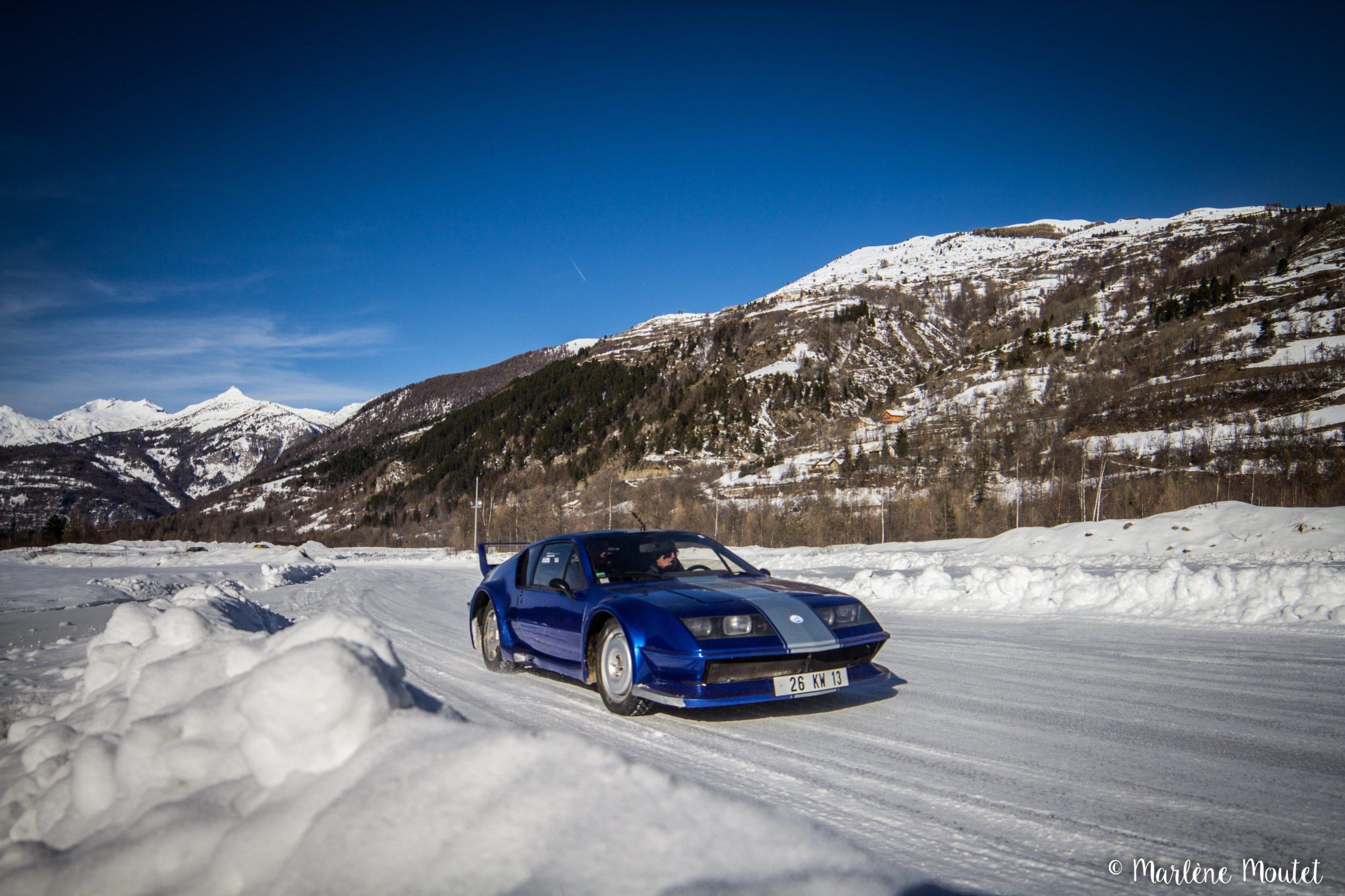 Alpine A110 A310 Orcières piste glace marlene moutet 16 scaled | Des Alpine et 1000 mètres de piste sur glace !