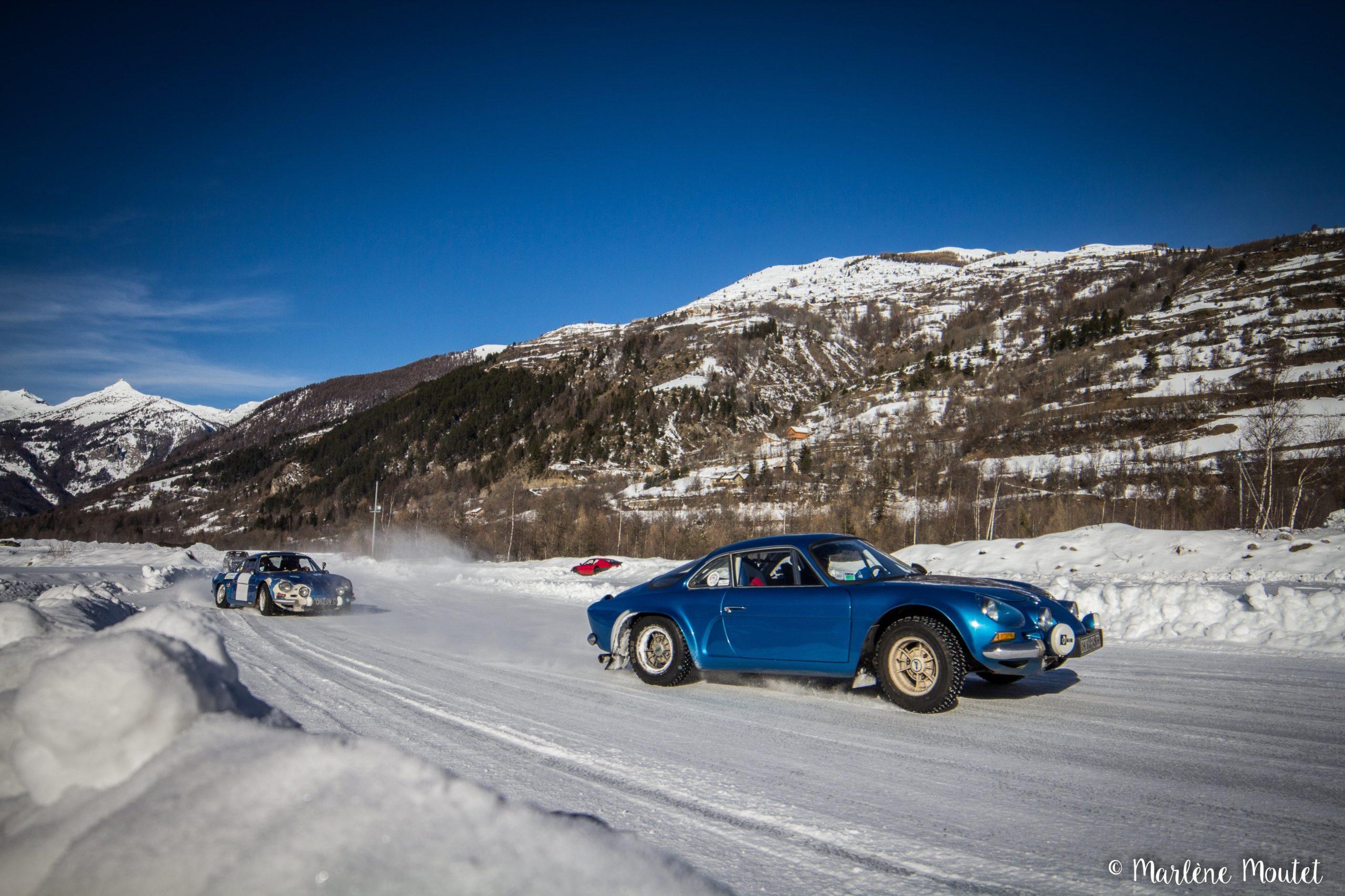 Alpine A110 A310 Orcières piste glace marlene moutet 17 scaled | Des Alpine et 1000 mètres de piste sur glace !