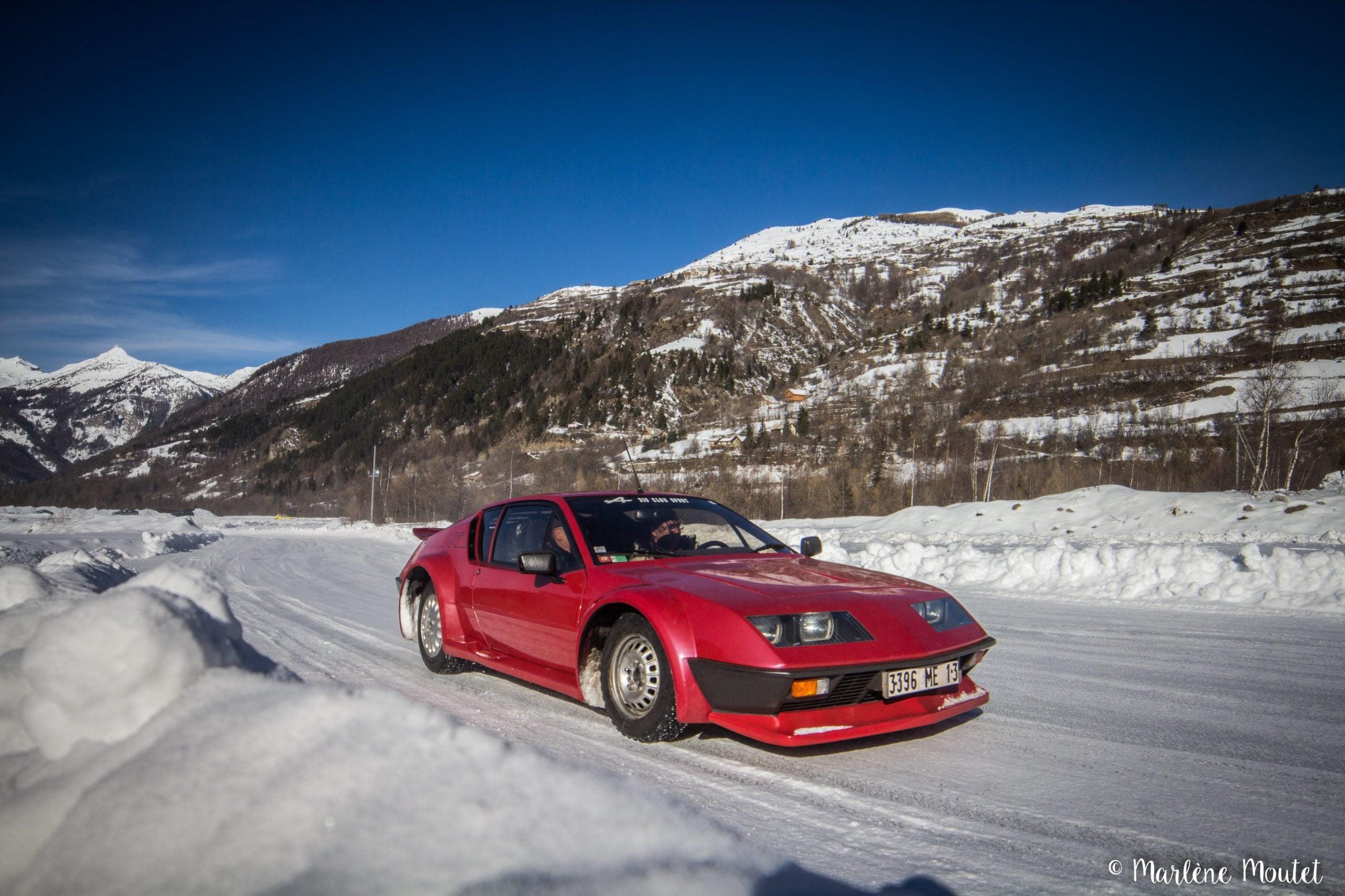 Alpine A110 A310 Orcières piste glace marlene moutet 18 scaled | Des Alpine et 1000 mètres de piste sur glace !