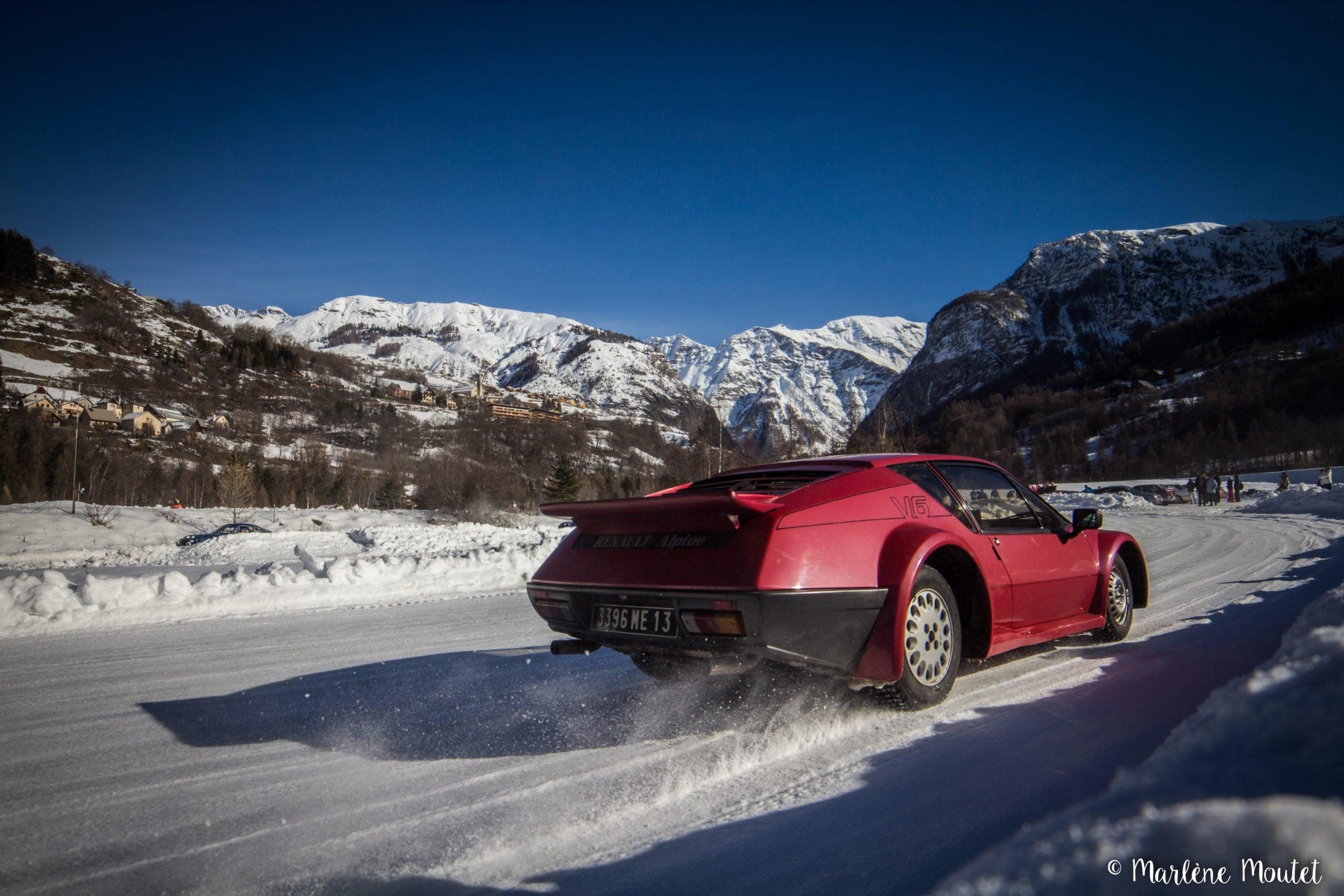 Alpine A110 A310 Orcières piste glace marlene moutet 19 scaled | Des Alpine et 1000 mètres de piste sur glace !