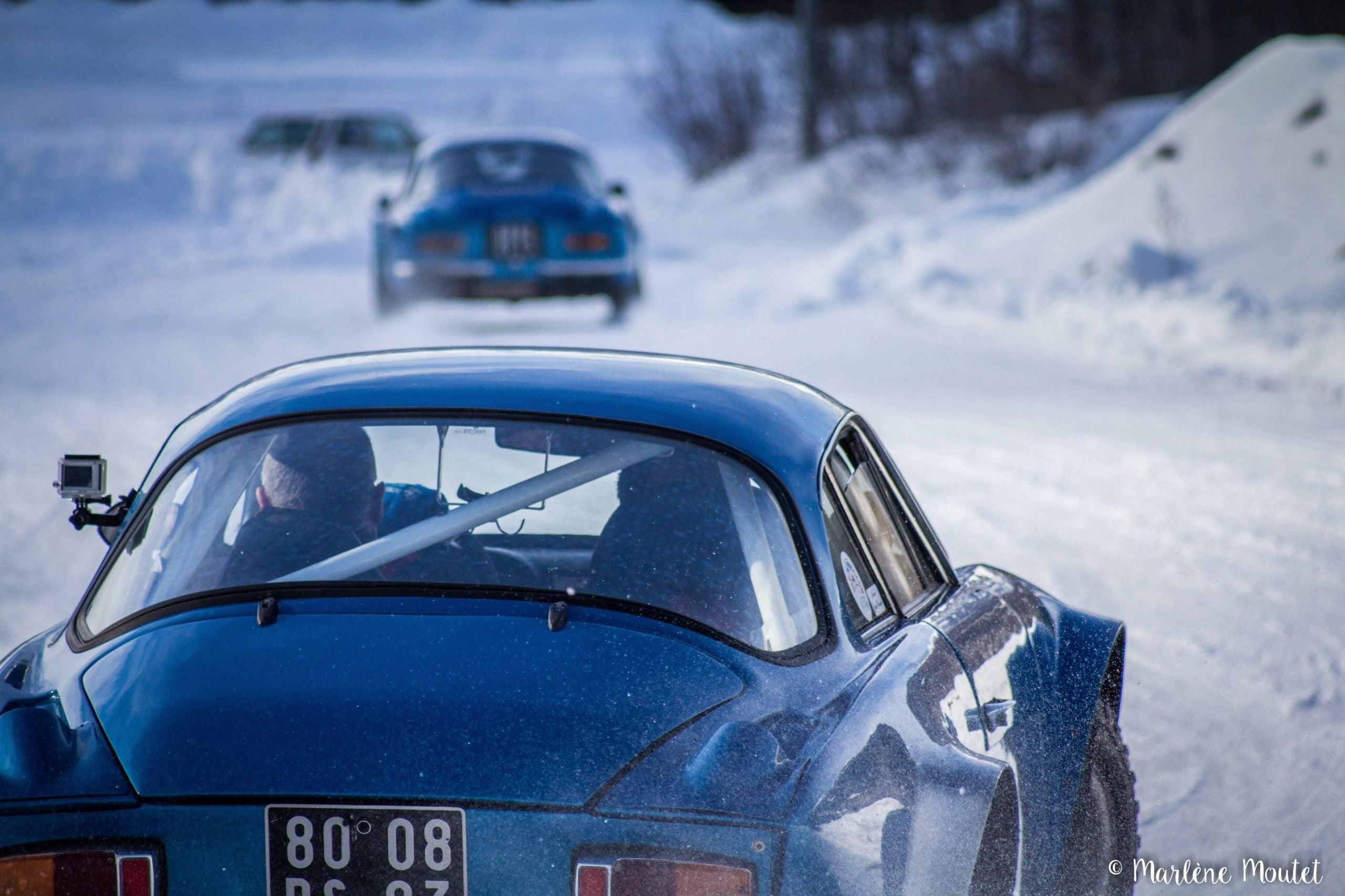 Alpine A110 A310 Orcières piste glace marlene moutet 27 scaled | Des Alpine et 1000 mètres de piste sur glace !