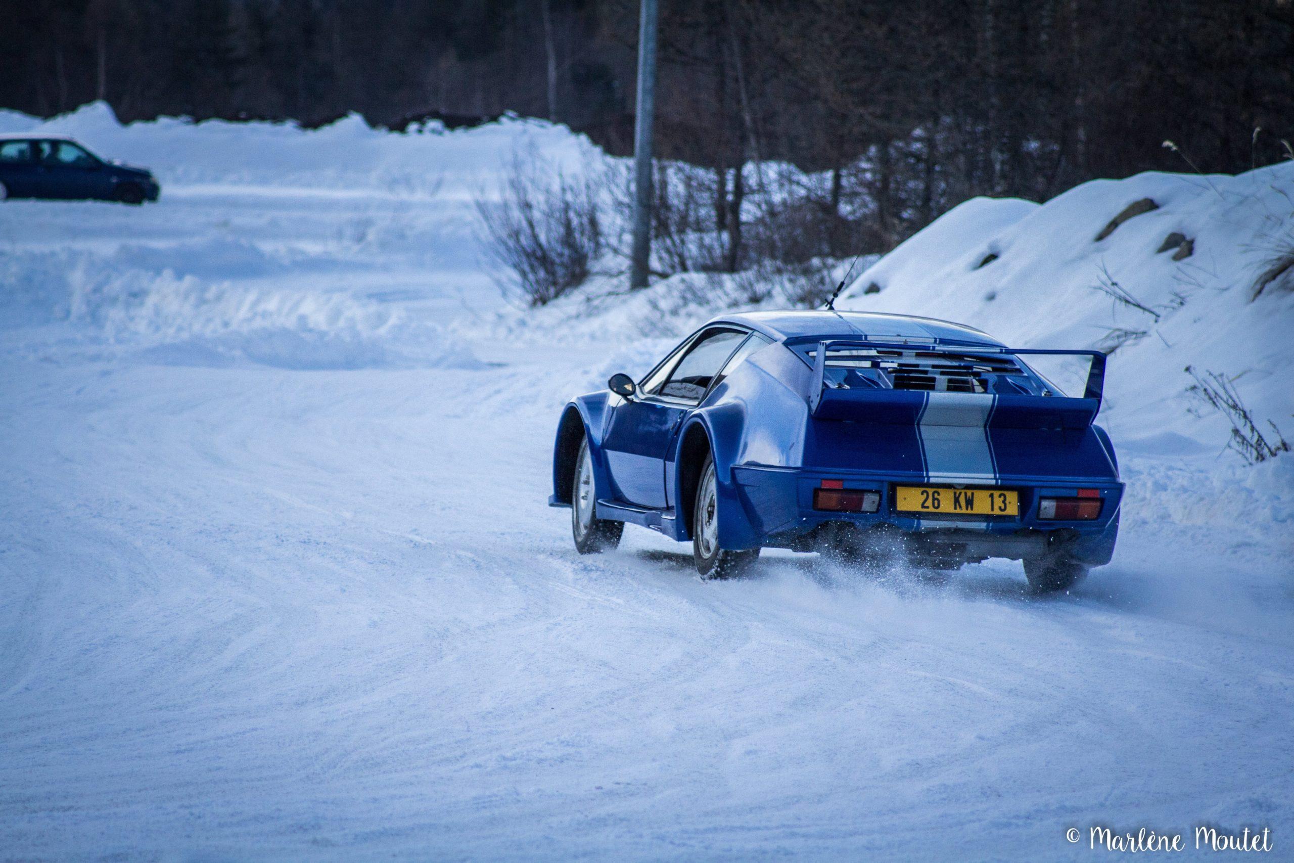 Alpine A110 A310 Orcières piste glace marlene moutet 38 scaled | Des Alpine et 1000 mètres de piste sur glace !