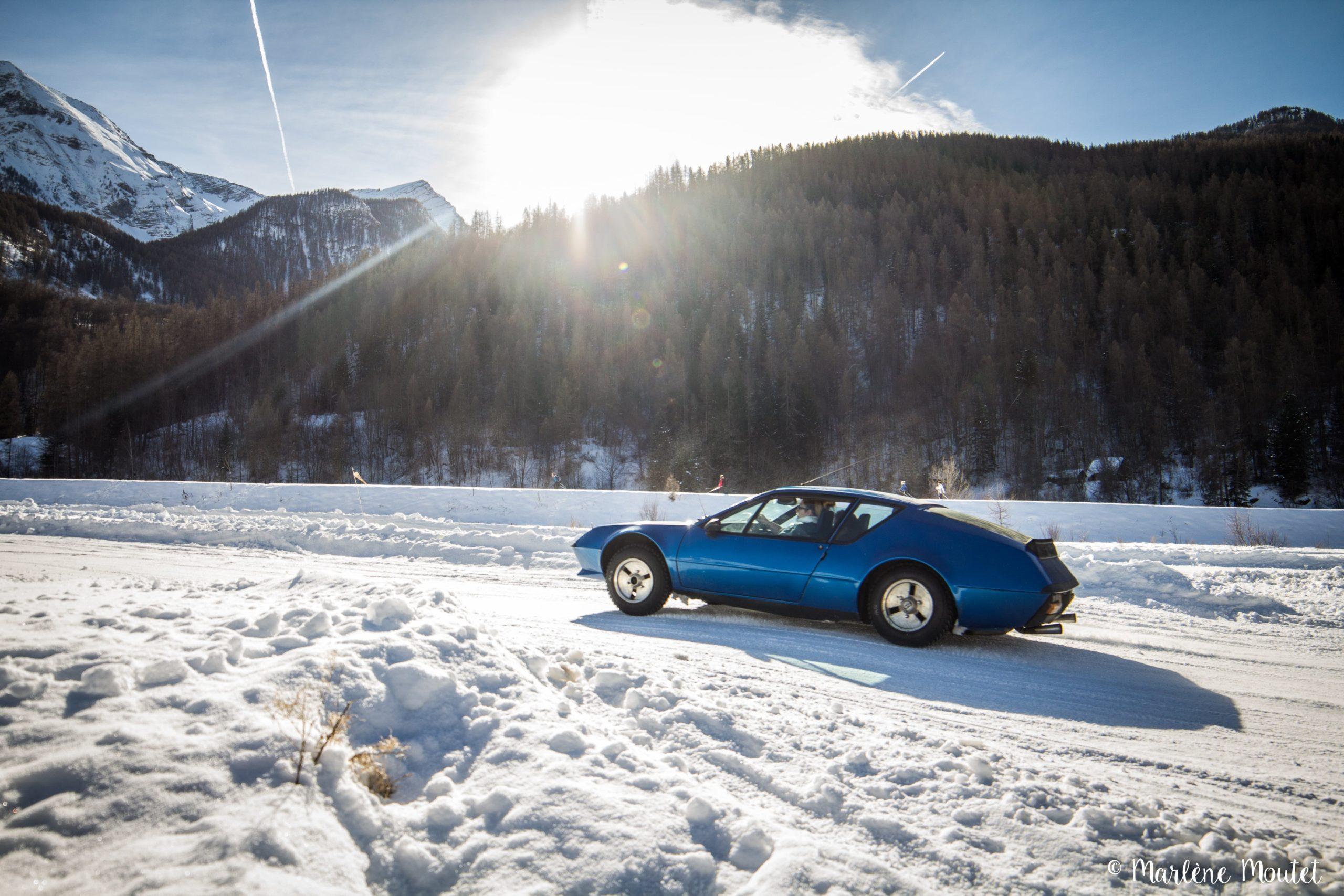 Alpine A110 A310 Orcières piste glace marlene moutet 43 scaled | Des Alpine et 1000 mètres de piste sur glace !