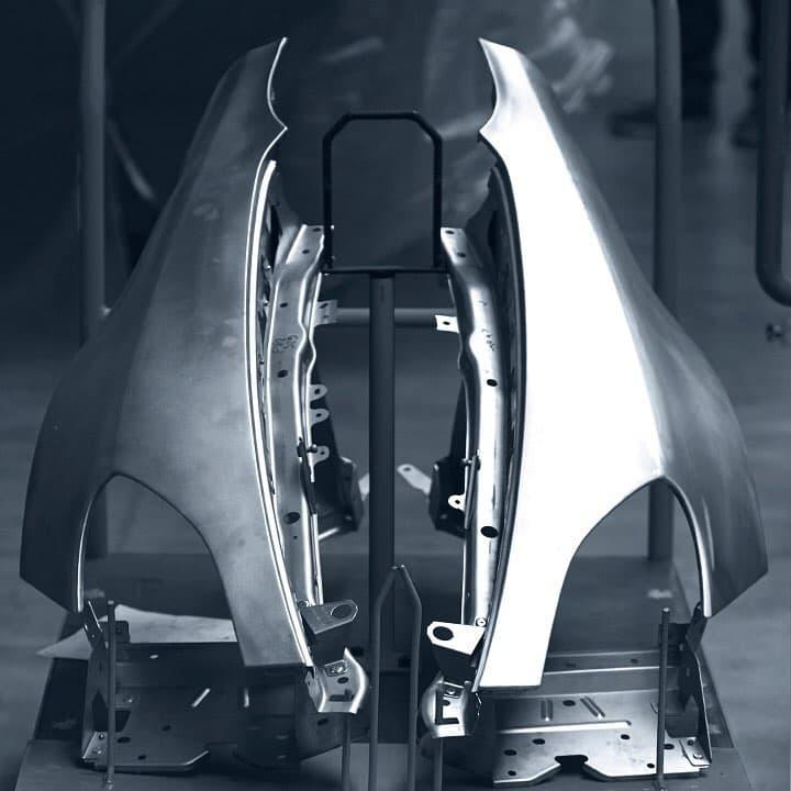 Alpine planet aluminium frame2   Alpine révèle la structure en aluminium de sa nouvelle berlinette