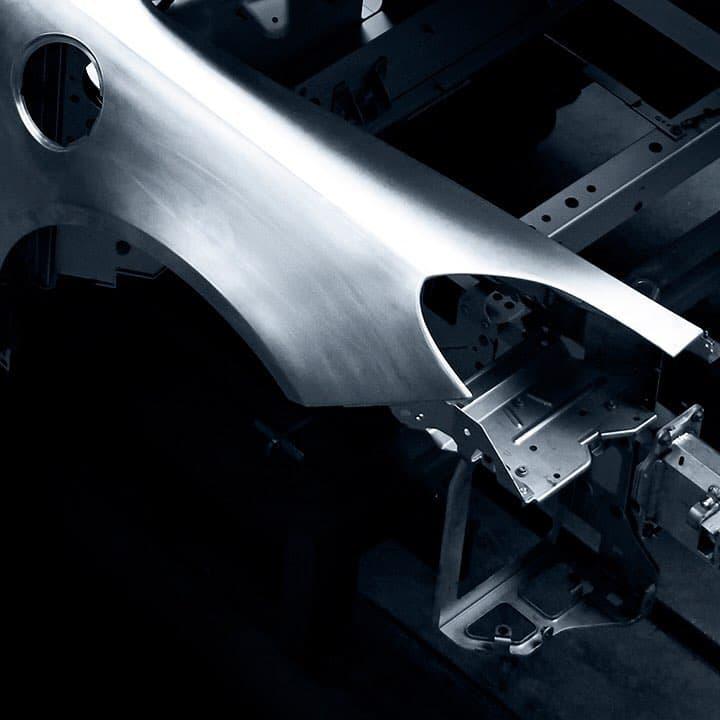 Alpine planet aluminium frame5   Alpine révèle la structure en aluminium de sa nouvelle berlinette
