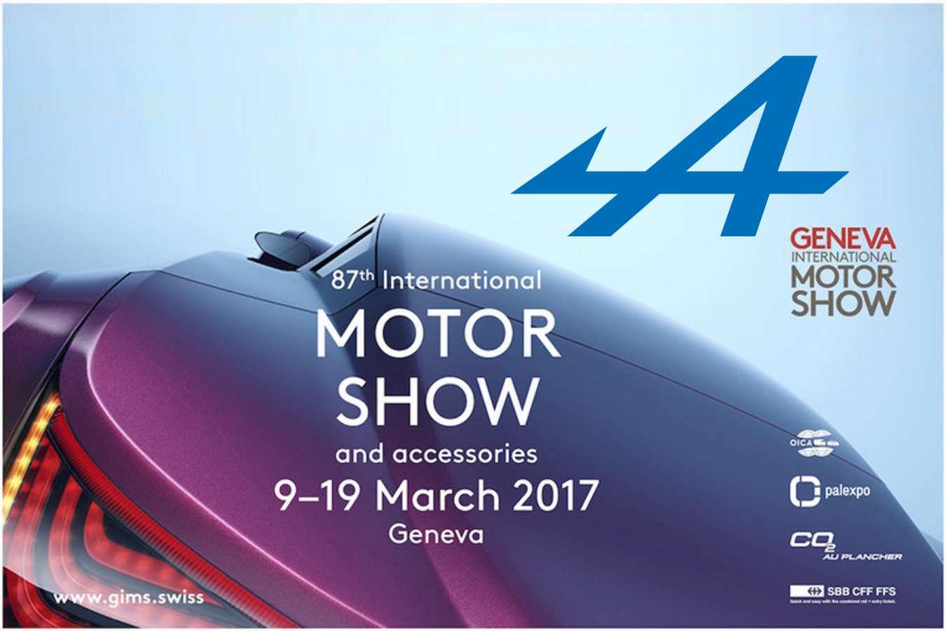 Alpine sera présente au salon automobile de Genève 2017