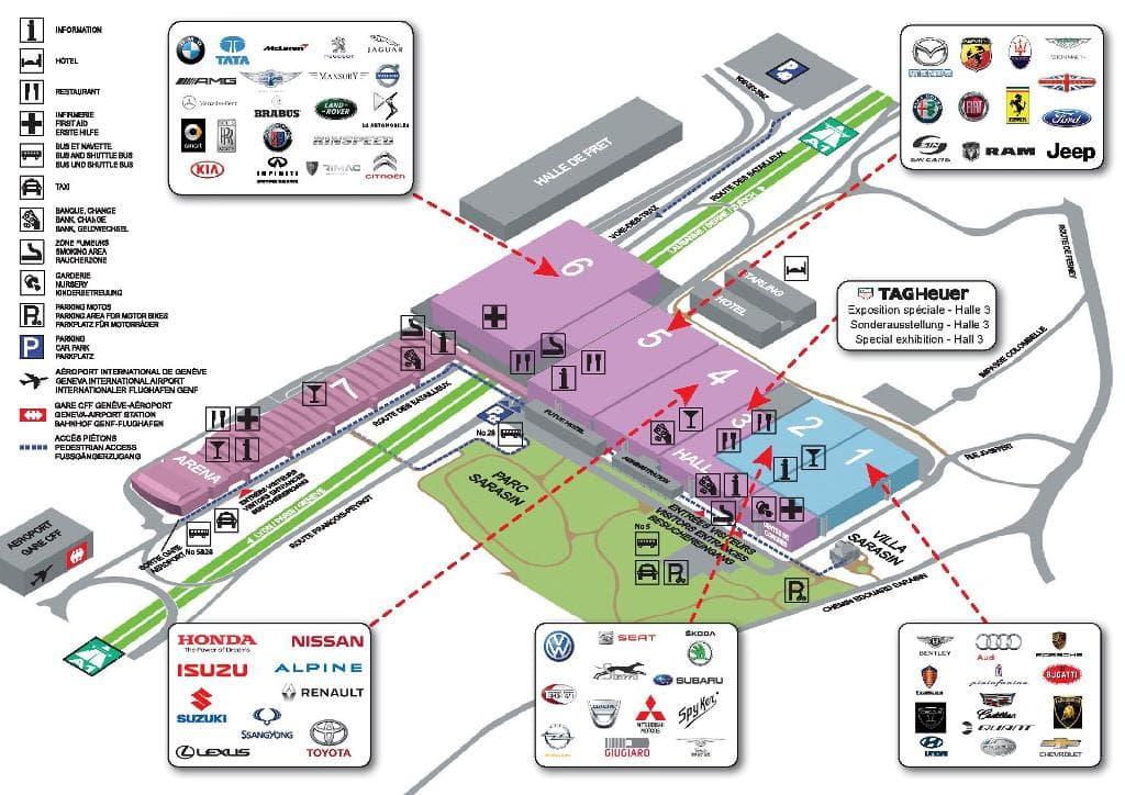 alpine geneve map   Alpine sera présente au salon automobile de Genève 2017