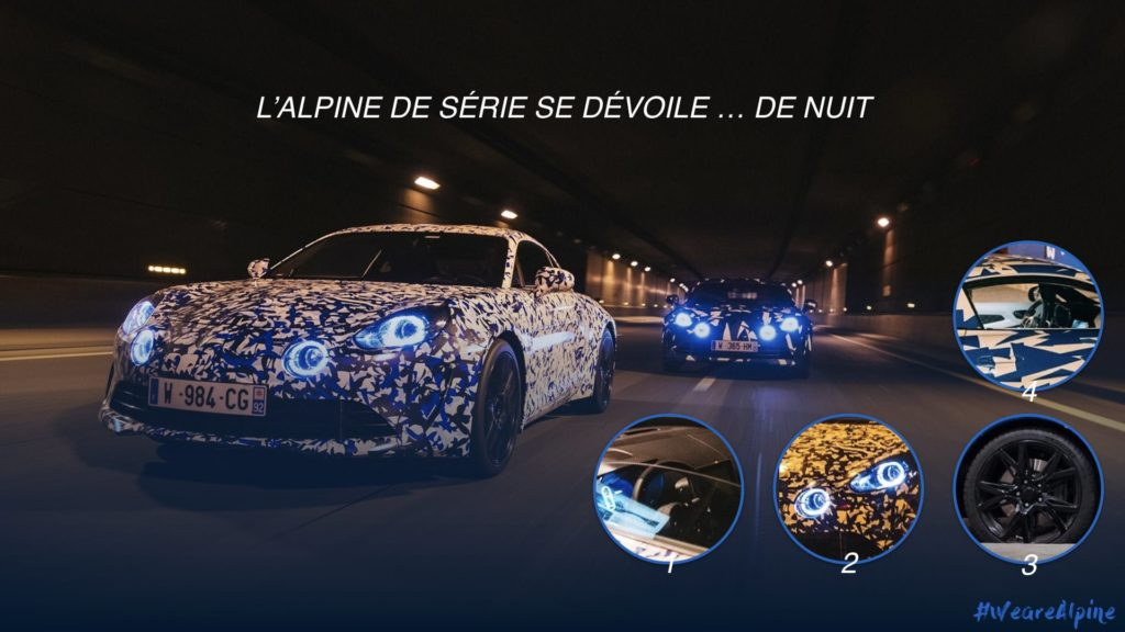 Alpine A110 AS110 décrytptée nocturne | L'Alpine A110 / AS110 en virée nocturne à Paris