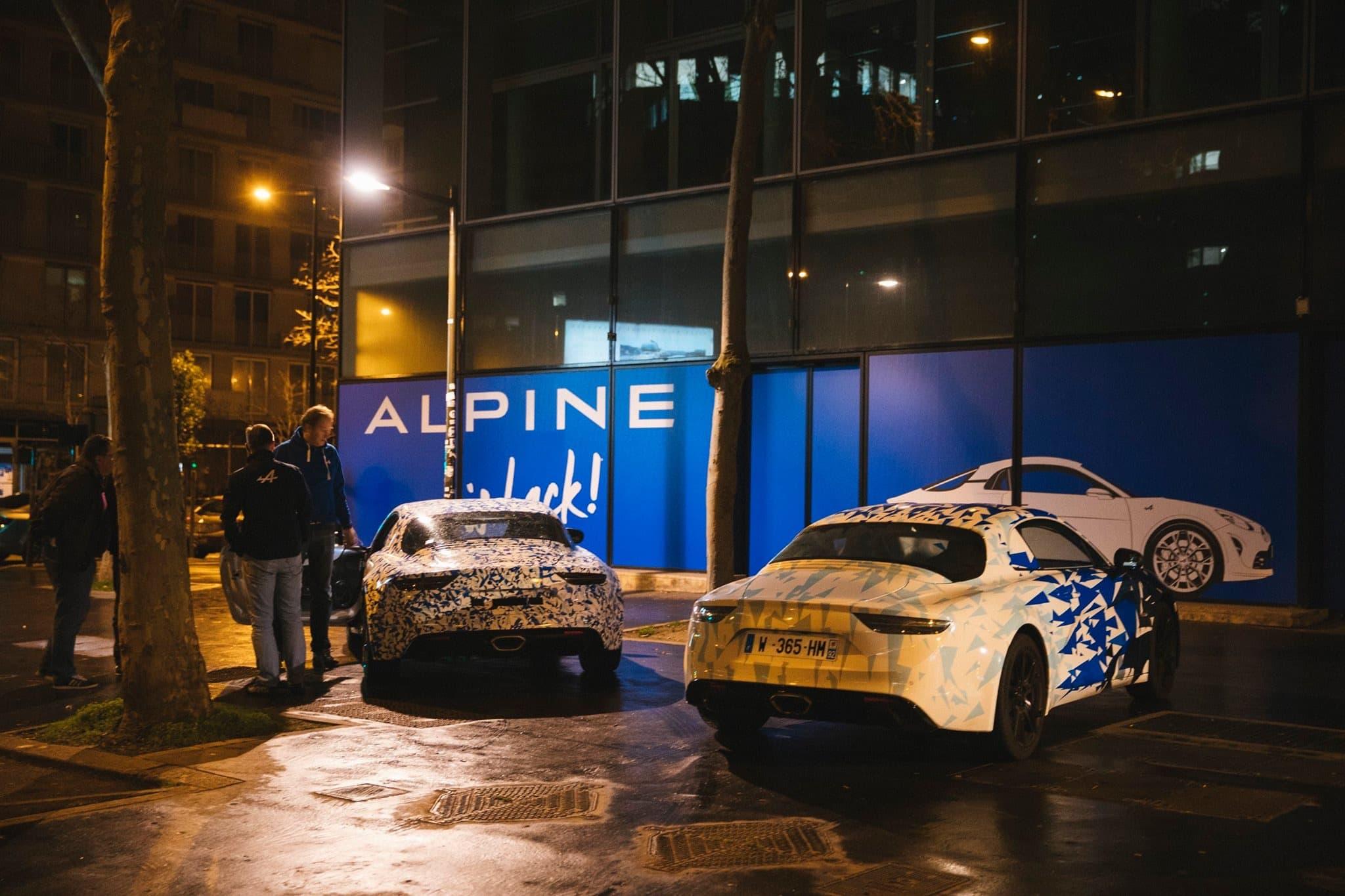 Alpine AS110 A110 Viree nocturne showroom 7 fevrier 2017 Team 7 | Interview d'Antony Villain, directeur du Design Alpine, au salon de Genève 2017