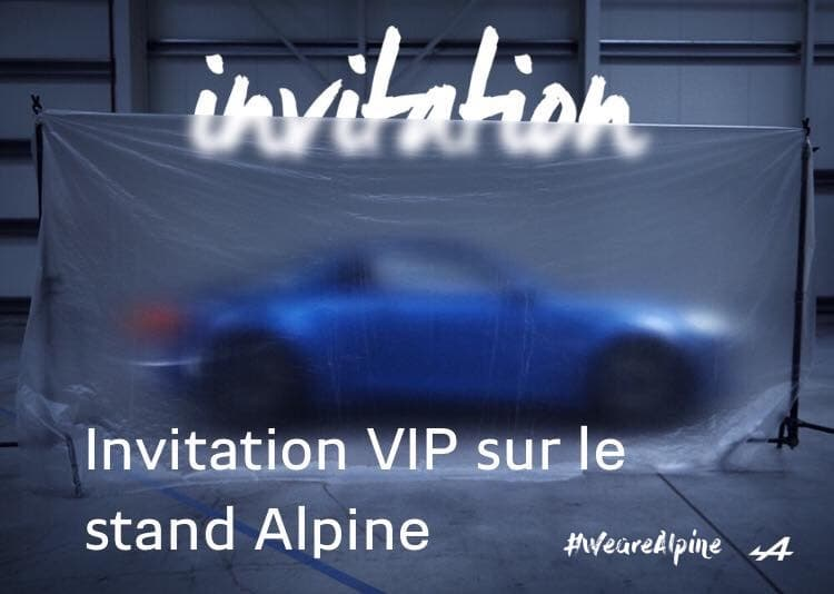 Alpine Cars a une invitation