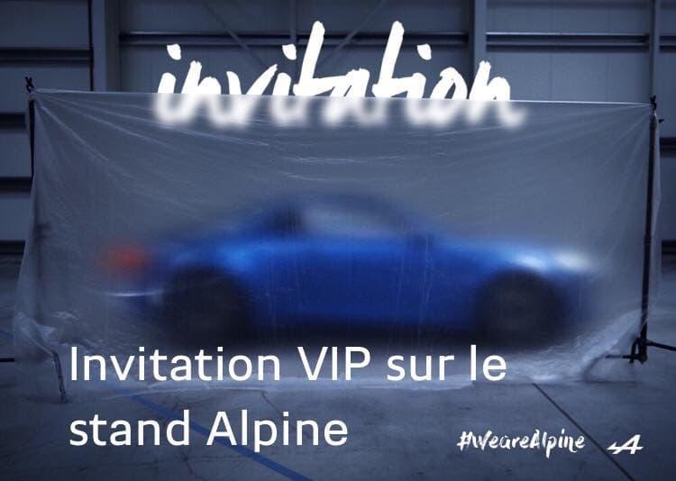 Alpine Cars a une invitation … pour vous !