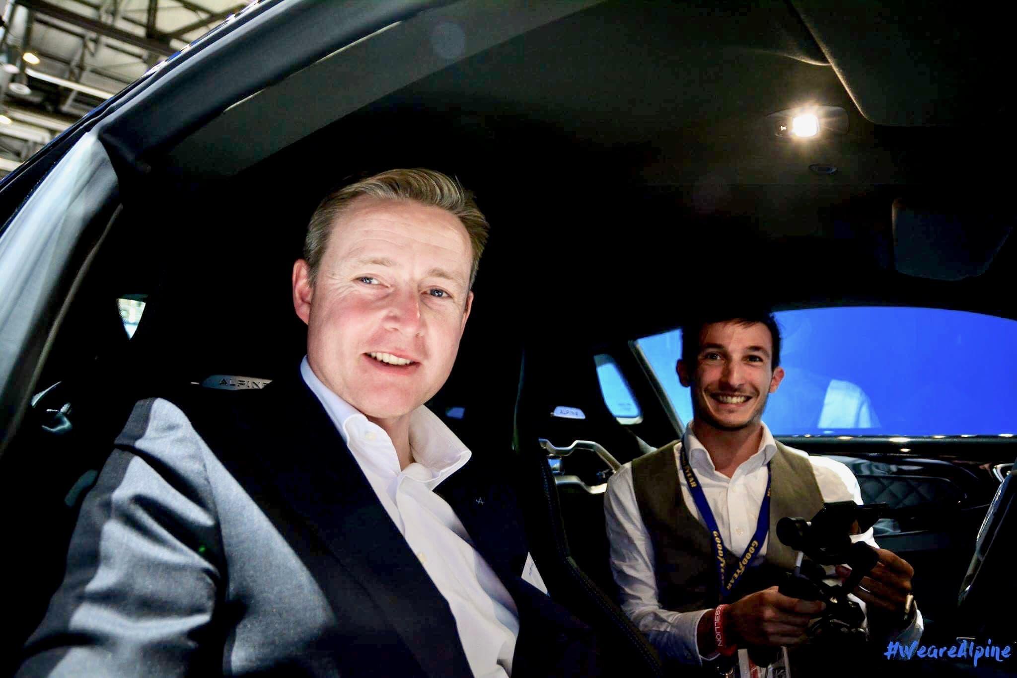 Interview de David Twohig chef ingenieur Alpine au GimsSwiss 2017 à bord de l'Alpine A110