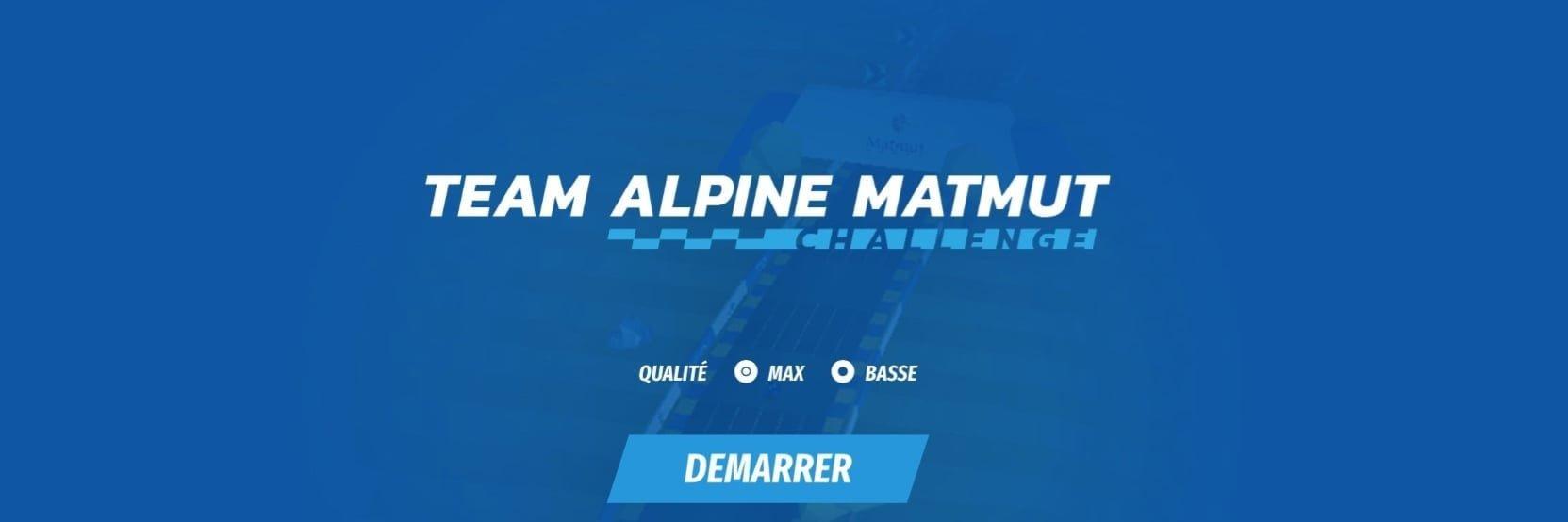 Team Alpine Matmut Challenge, le jeu concours !