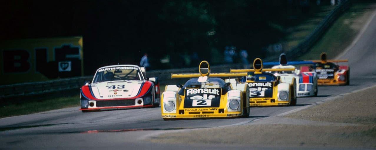 banniere 24 Heures du Mans 1978 pironi jabouille depailler jaussaud bell ragnotti frequelin a443 a442b a442a a442 victoire 36 | Boutique Alpine: une magnifique collection «1978» anniversaire !