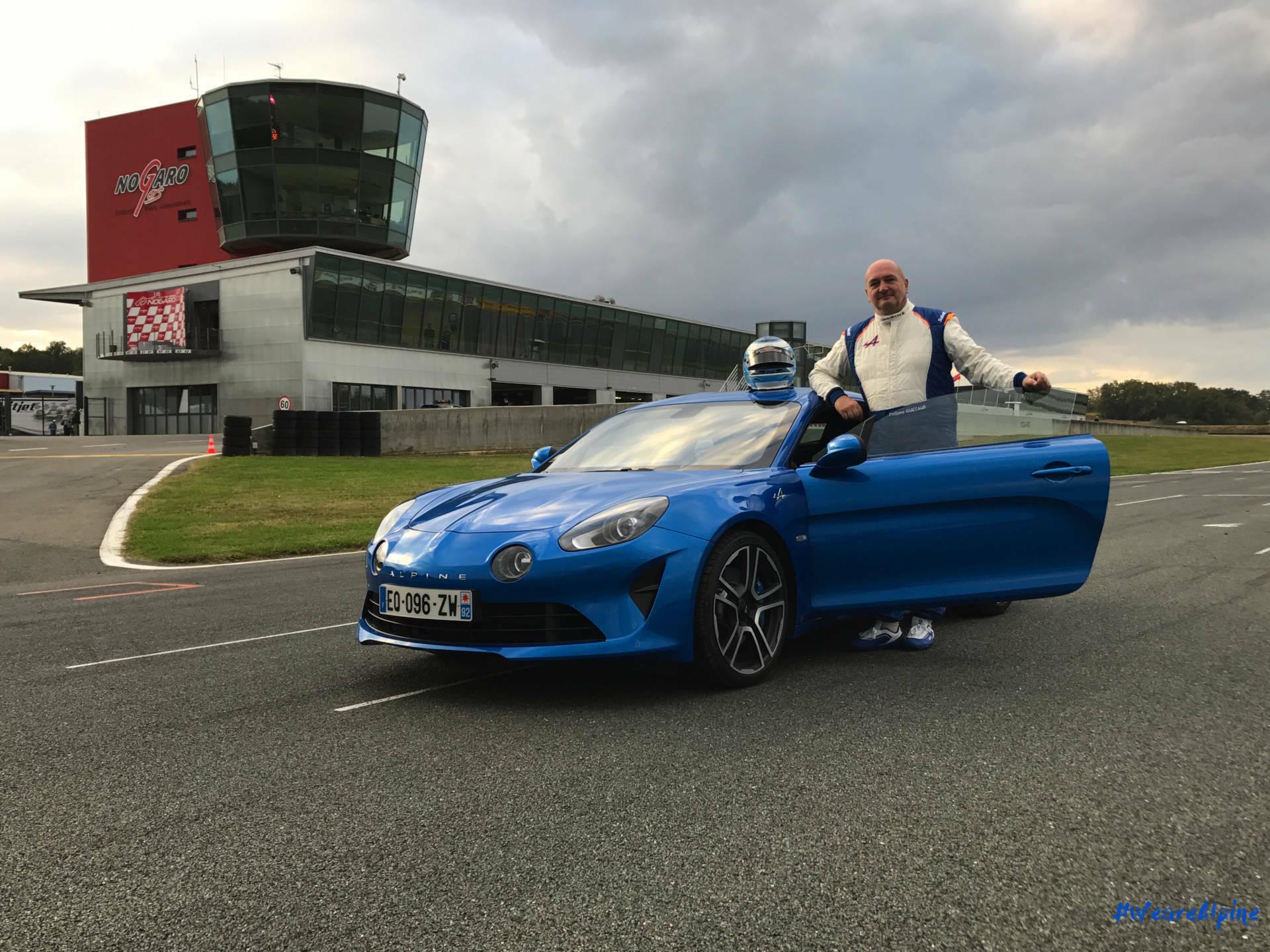 Alpine A110 2017 Philippe Quetaud Circuit Nogaro Première immatriculation 1 | La première Alpine A110 immatriculée sur le circuit de Nogaro !