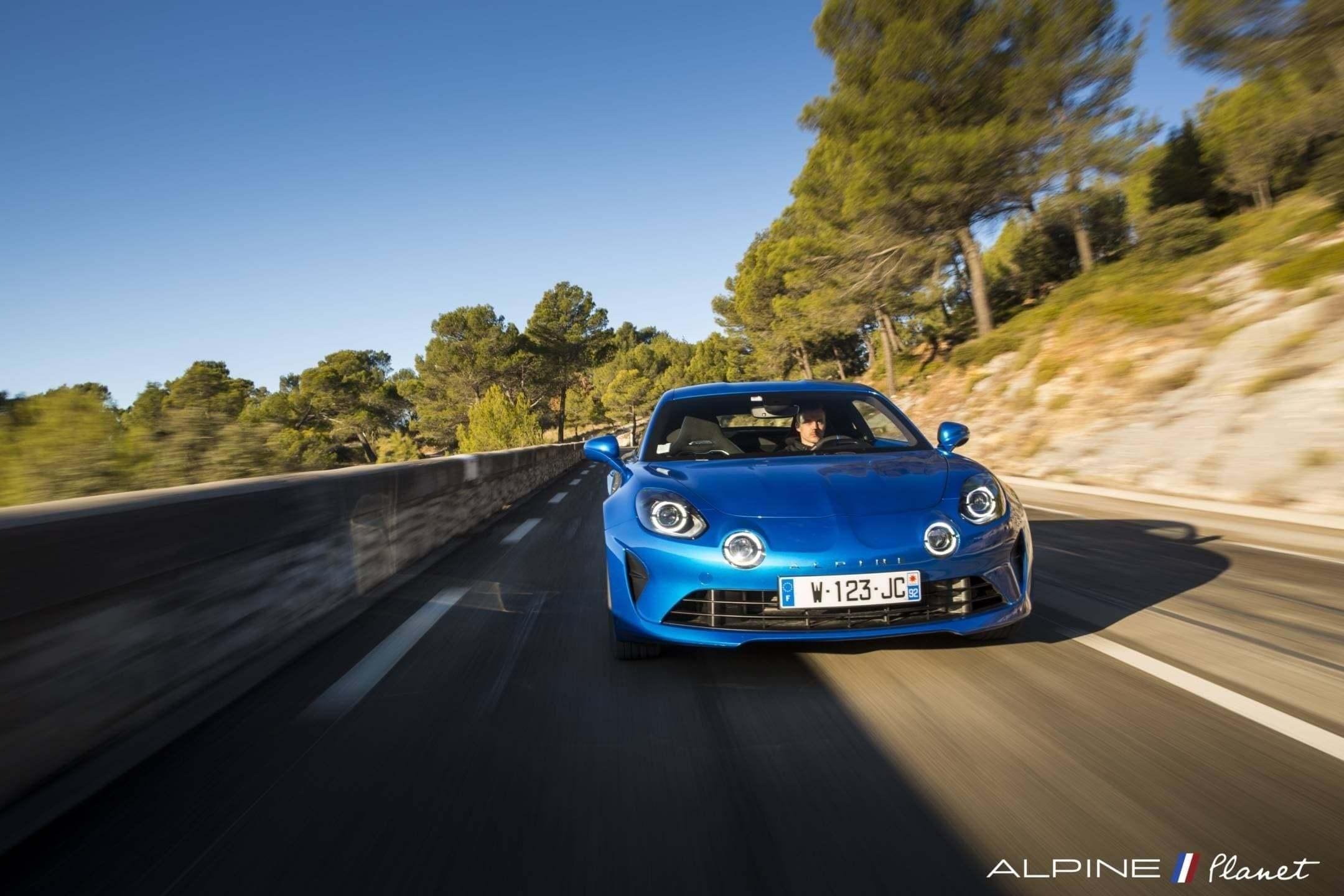 Alpine planet drive A110 2 - Notre essai de la nouvelle Alpine A110 sur route !