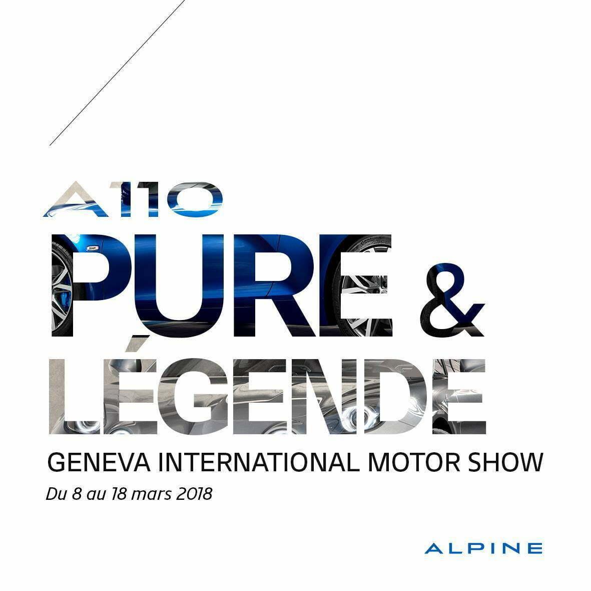 alpine a110 pure legende salon geneve gims 2018 | Alpine nous invite à Genève pour l'A110 Pure et Légende !