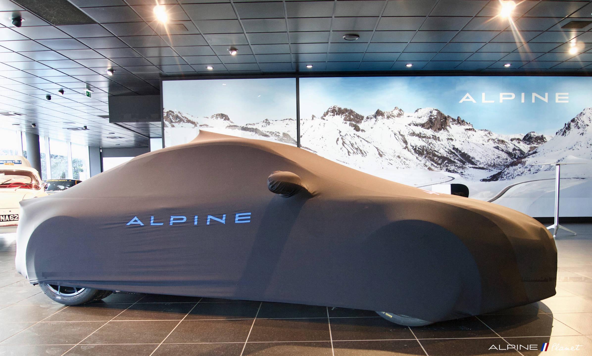 Alpine Planet A110 Cup Pierre Sancinena CMR Studio Boulogne RRG Fabien Cuvillier soirée 2   Présentation de l'Alpine A110 Cup de Pierre Sancinena