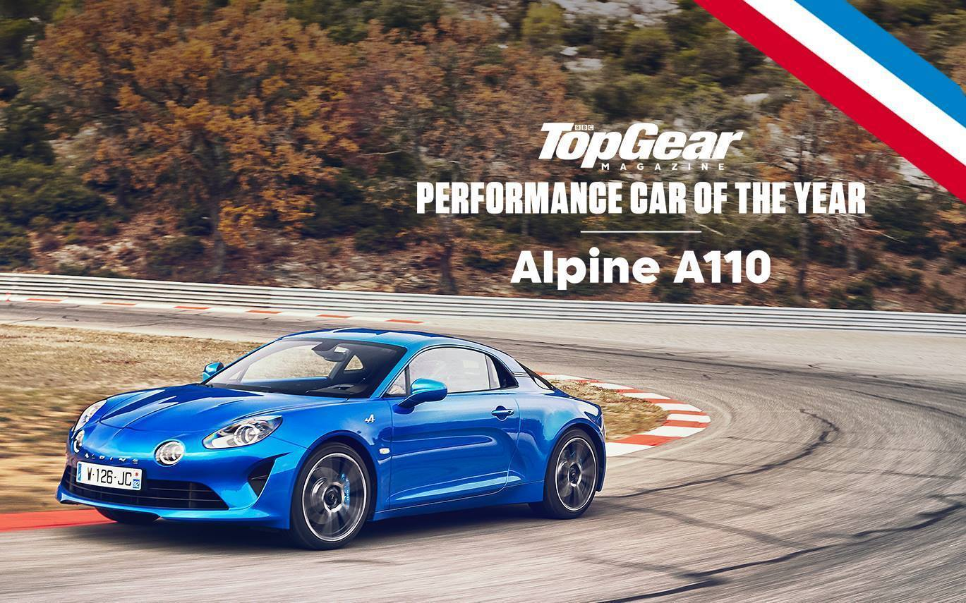 Alpine A110 Top Gear Performance car of the year 2018  - Alpine A110 Sport / AS110: la version performance pour 2019 !