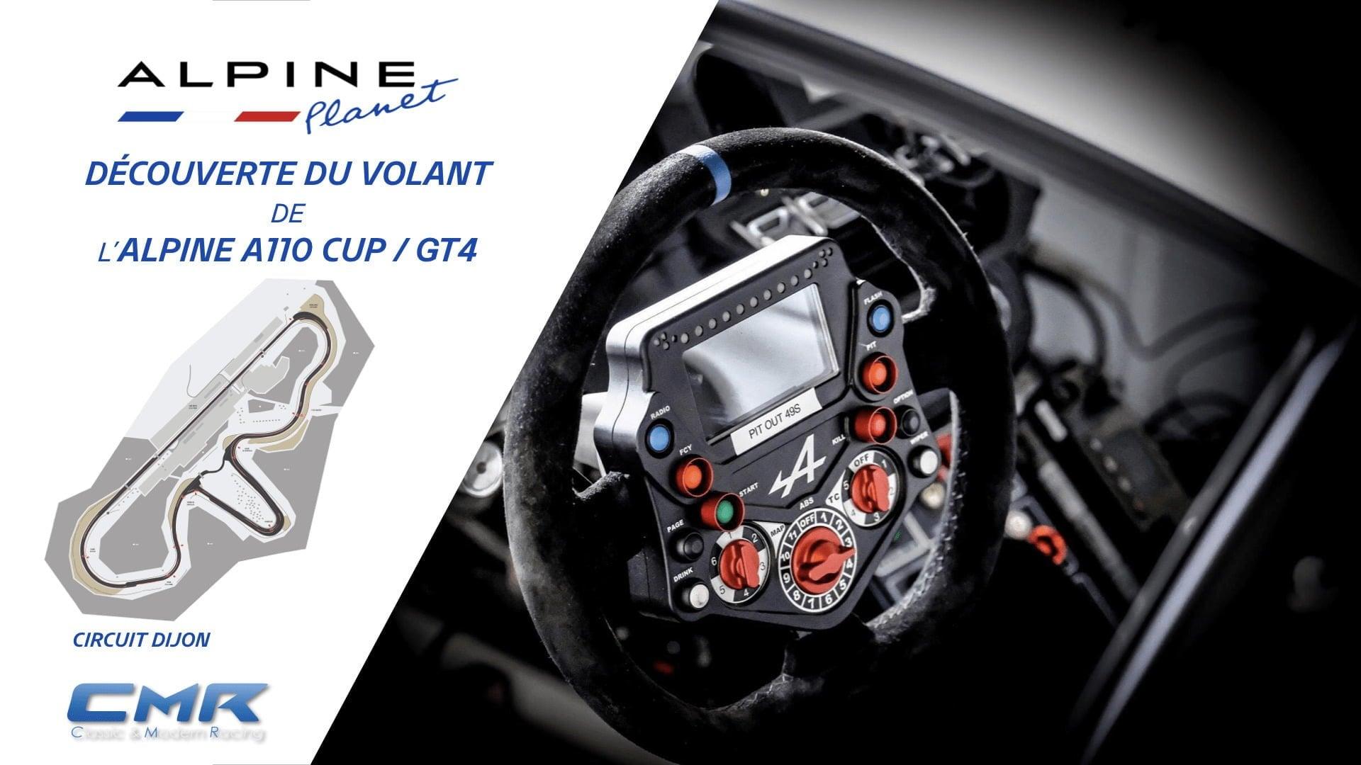 Découverte du volant de l Alpine A110 CUP GT4