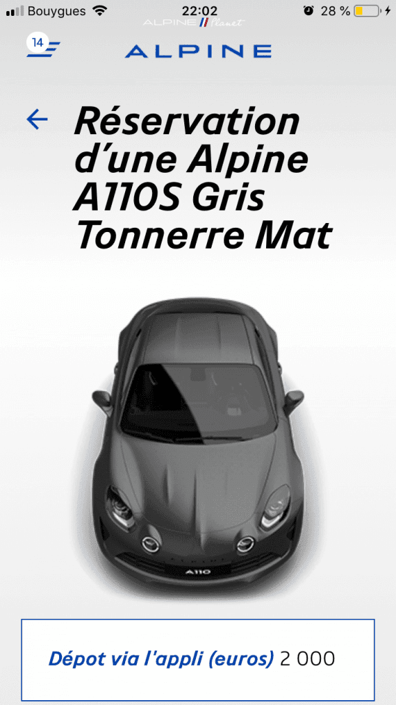commander alpine A110S 10 | Comment précommander l'Alpine A110S ?
