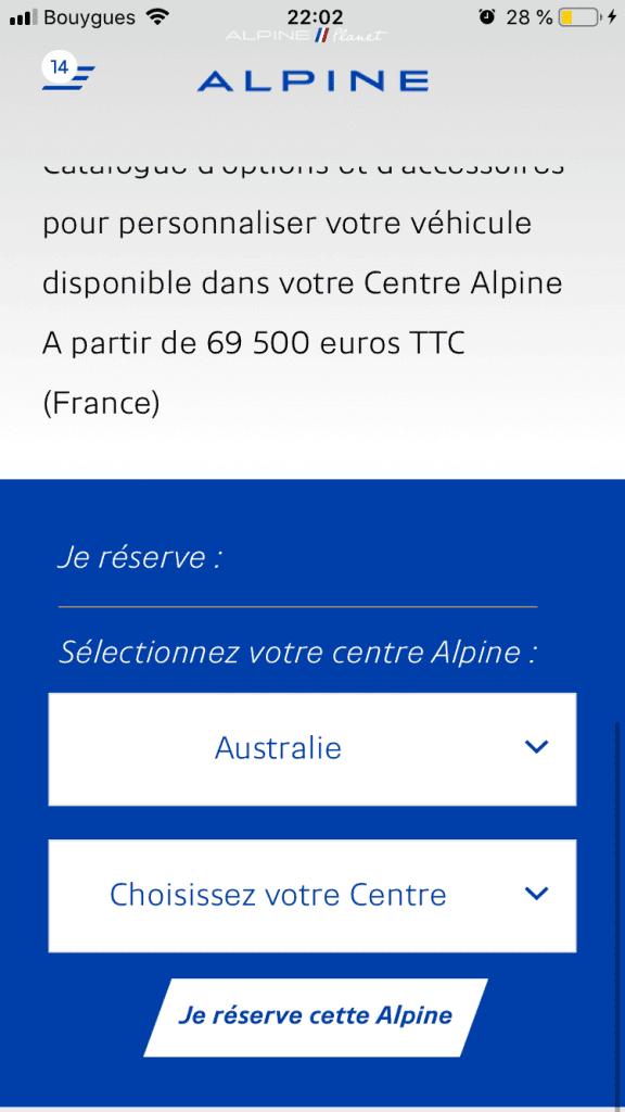 commander alpine A110S 11 | Comment précommander l'Alpine A110S ?