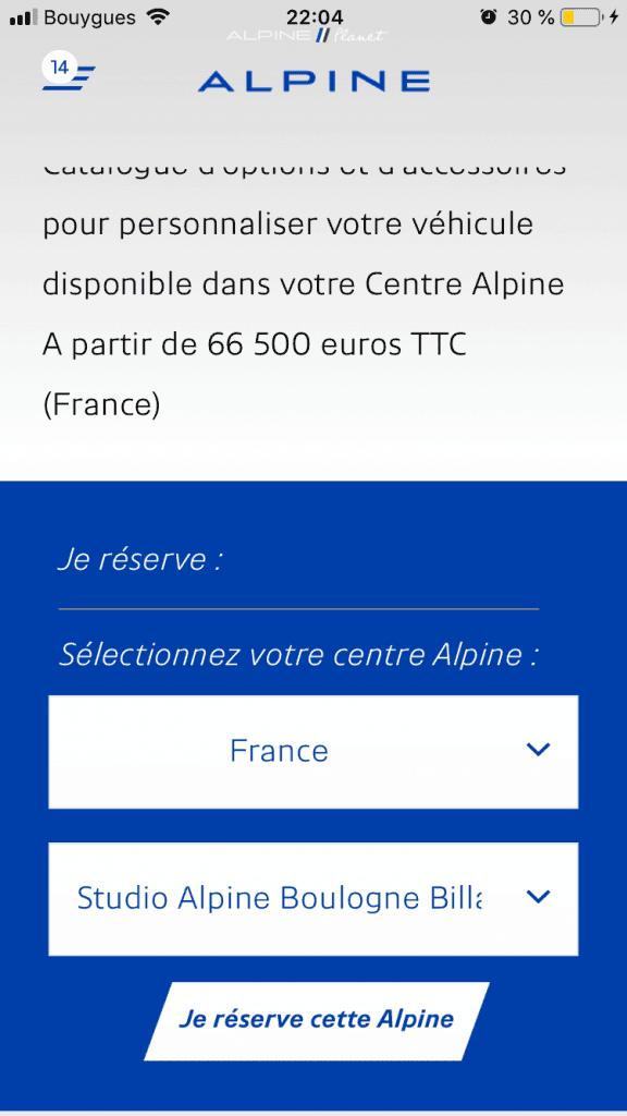 commander alpine A110S 13 | Comment précommander l'Alpine A110S ?