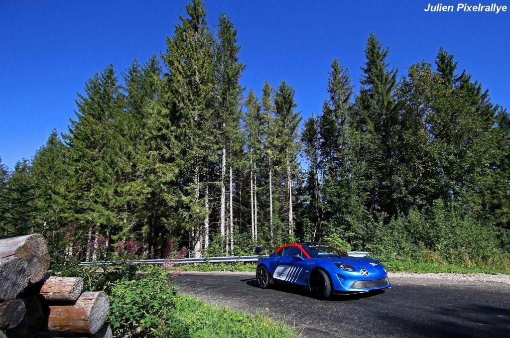 Manu Guigou au volant de l'Alpine A110 Rally