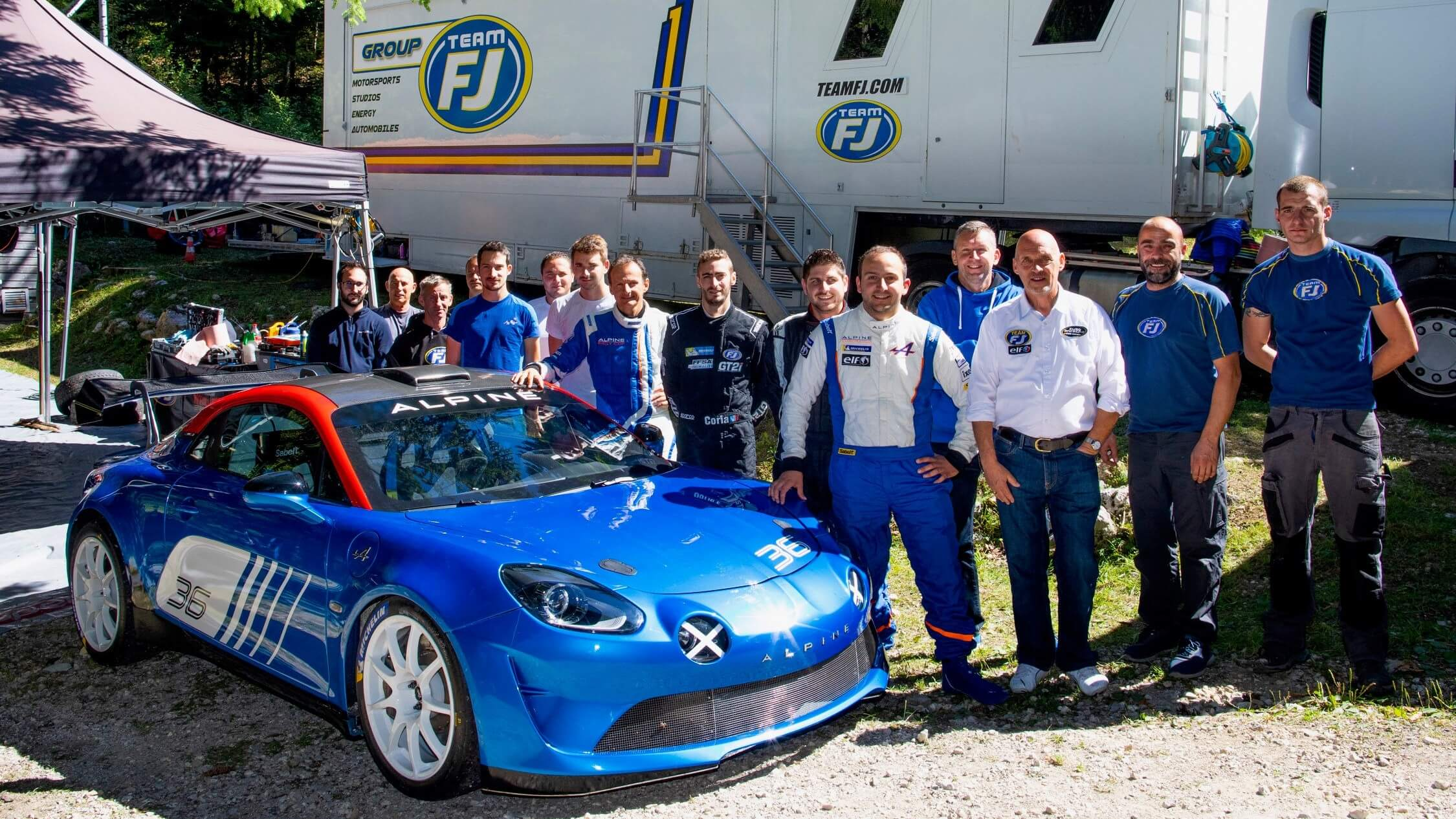 TeamFJ Tests Alpine A110 Rally