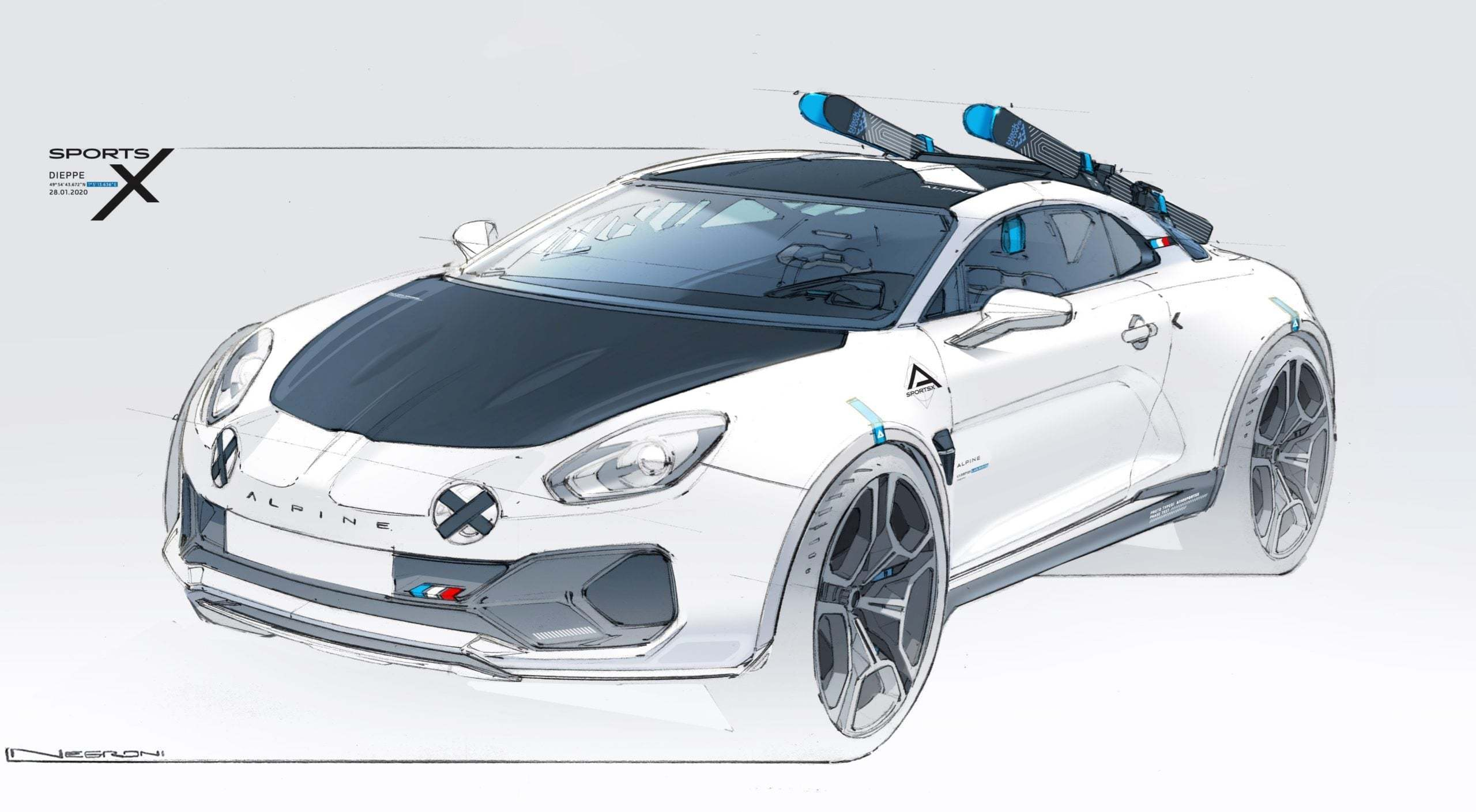 Alpine A110 SportsX Festival International Automobile 2020 3 scaled   Alpine A110 Sports X : un concept SUV Coupé ?