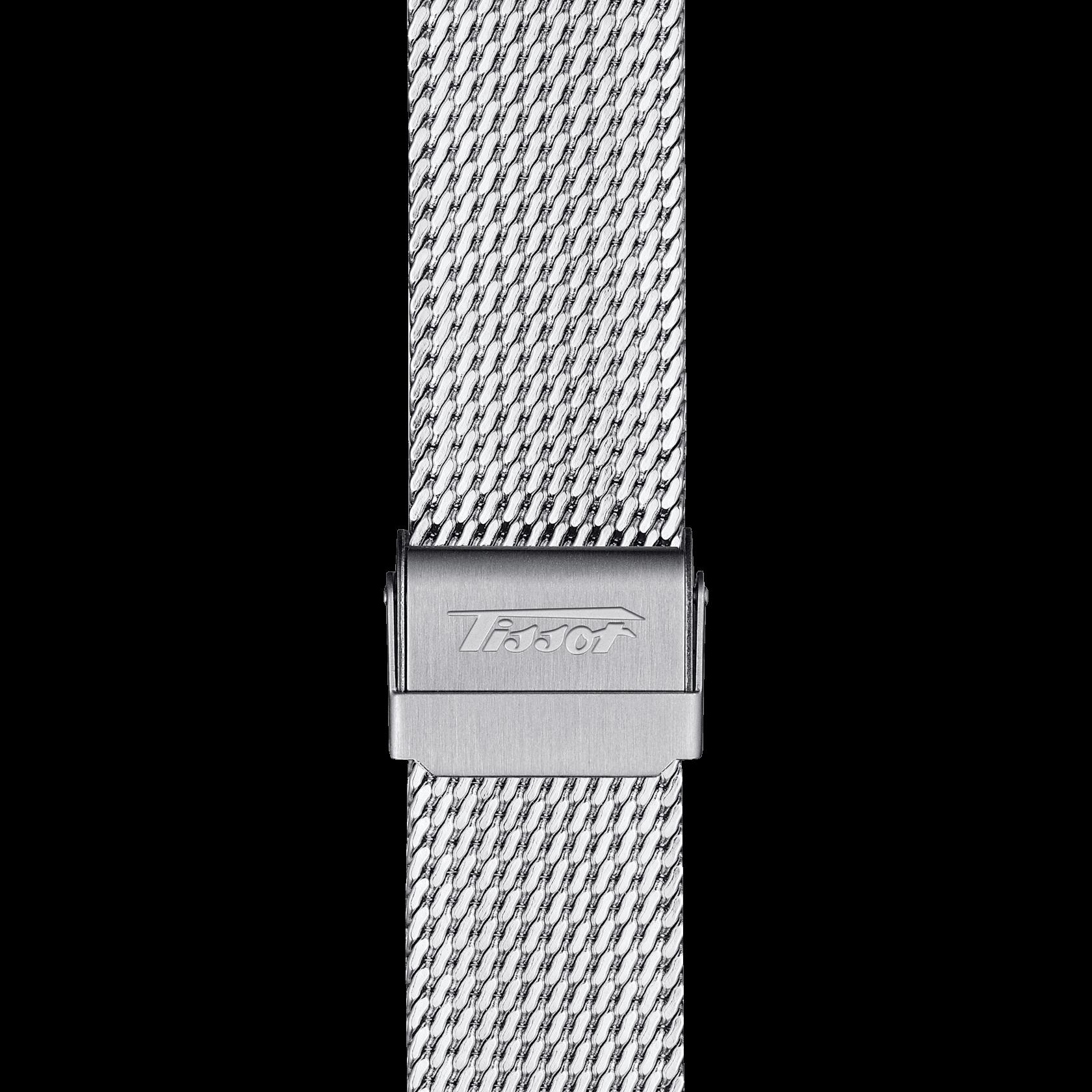 T019.430.11.031.01 zoombracelet   TISSOT lance une serie spéciale VISODATE ALPINE DIEPPE 50TH ANNIVERSARY