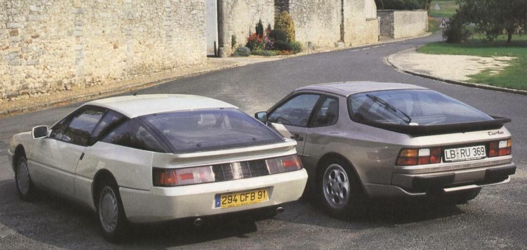 Alpine GTA Turbo et Porsche 944