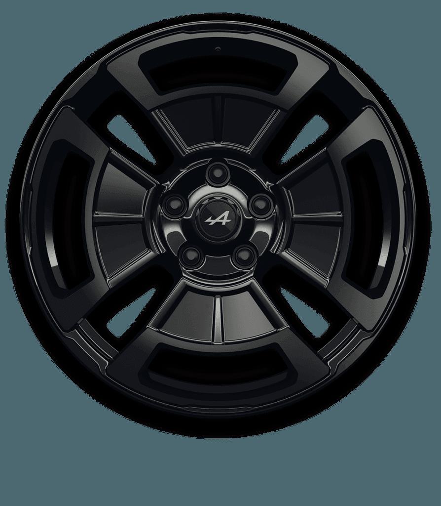 Alpine A110 - Jante Légende Noir Brillant