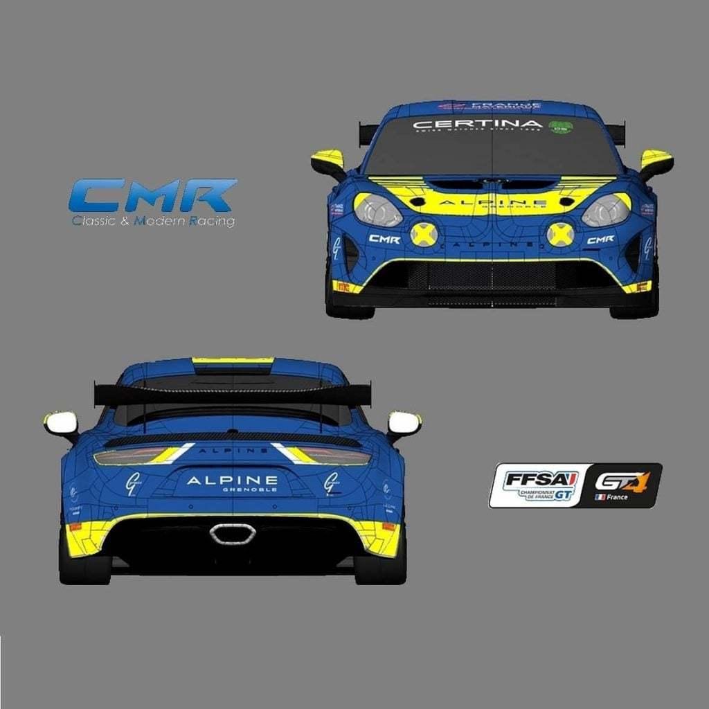 Alpine A110 GT4 Gaël Castelli 2020 Livrée