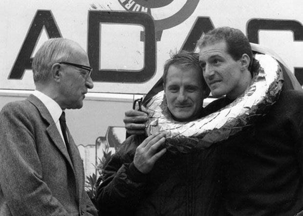 Lucien Bianchi et Mauro Bianchi réunis au Nürburgring en 1965 | L'Alpine A310 4 cylindres, en piste pour les seventies