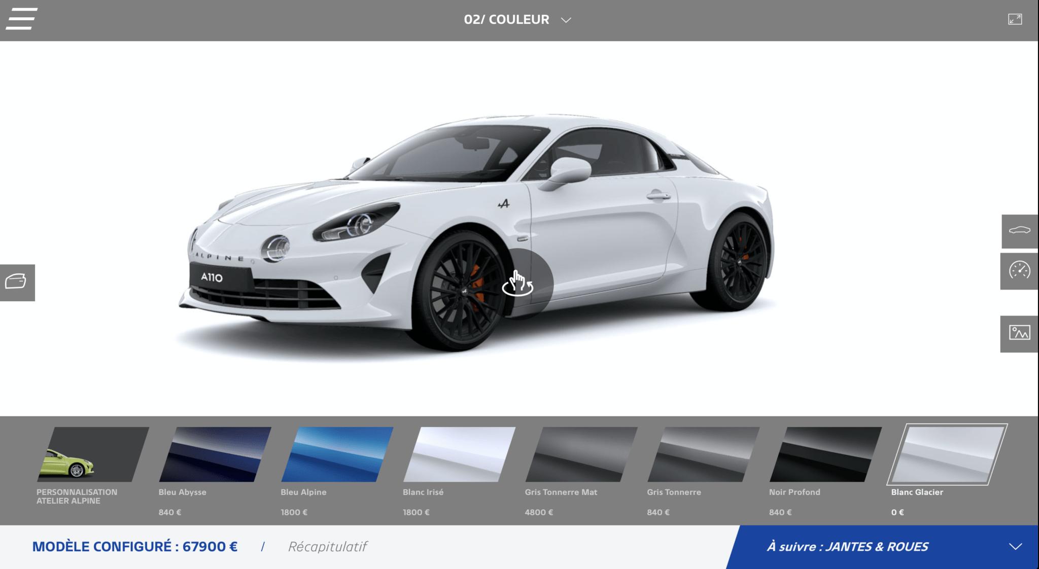 Atelier Alpine A110 Configurateur 2020 7 | Atelier Alpine: le configurateur fait peau neuve en 2020