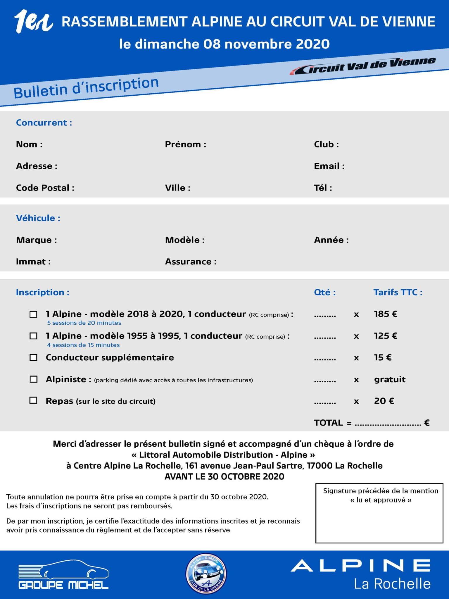 RASSEMBLEMENT ALPINE CIRCUIT VAL DE VIENNE Page 1 | Le 1er Rassemblement Alpine au Circuit Val de Vienne 2020