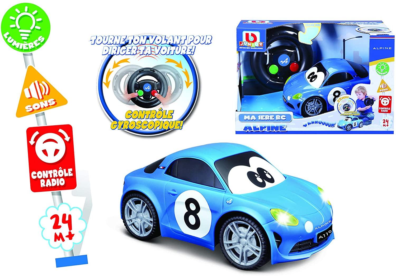 Bburago Maisto France BBJUNIOR Renault Ma premiere Alpine A110 a Volant gyroscopique Voiture 3 | 30 idées de cadeaux de Noël pour les passionnés d'Alpine