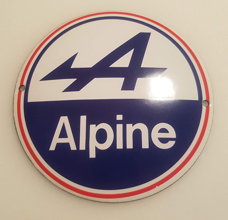 EMAILLE Panneau de signalisation O 12 cm Alpine 2 Panneau de Porte en Forme de Panneau de signalisation | 30 idées de cadeaux de Noël pour les passionnés d'Alpine