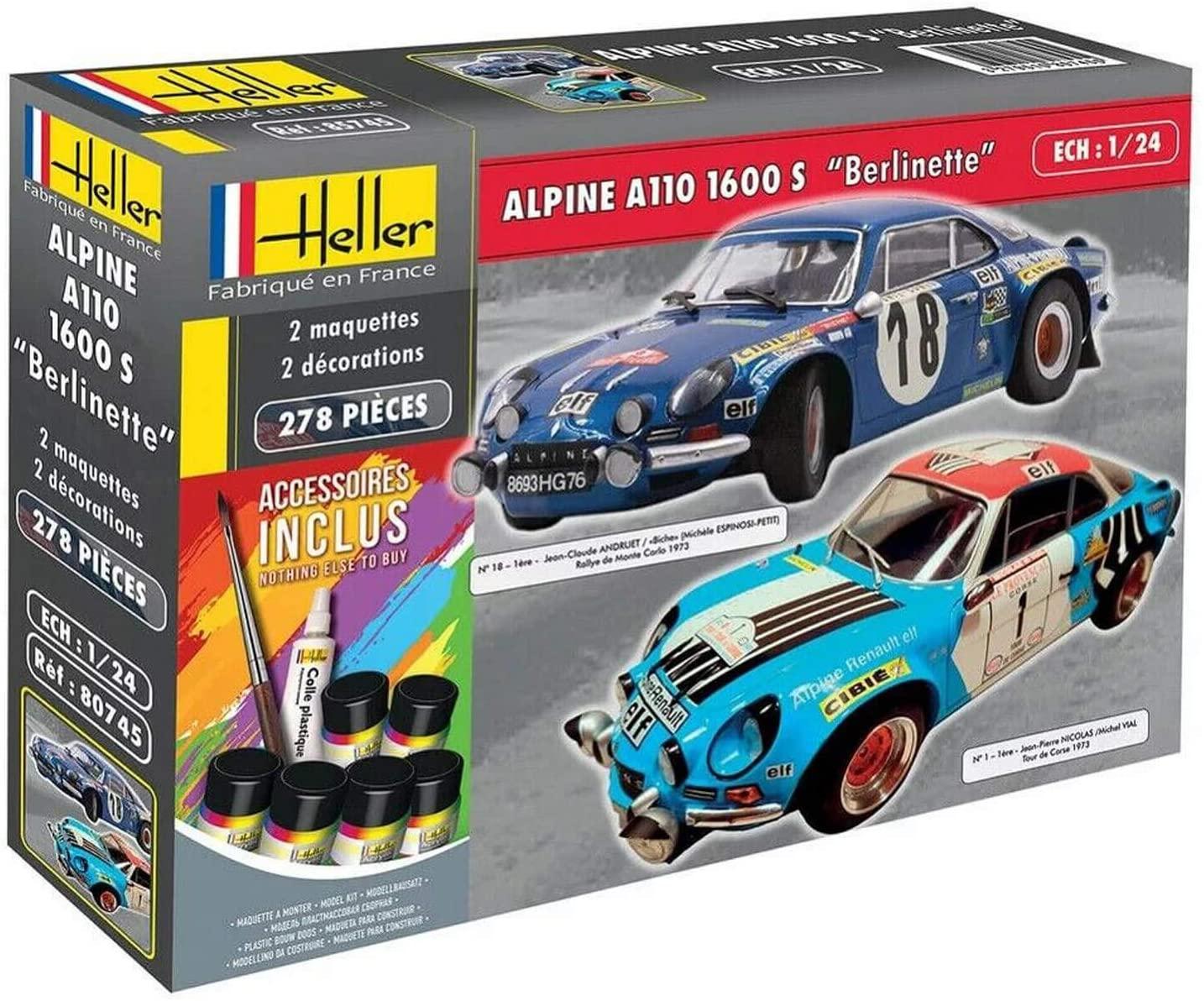 Heller Coffret 2 maquettes Voiture Alpine A110 1600S | 30 idées de cadeaux de Noël pour les passionnés d'Alpine