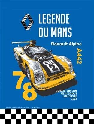 Renault Alpine Legende du Mans 20x15cm modele en Relief Alpine A442 | 30 idées de cadeaux de Noël pour les passionnés d'Alpine