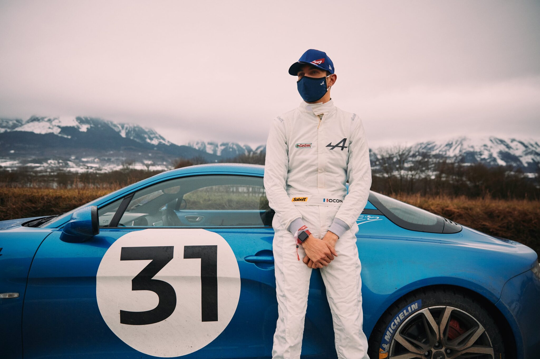 Esteban Ocon Rallye Monte-Carlo 2021 Alpine A110 F1 Team