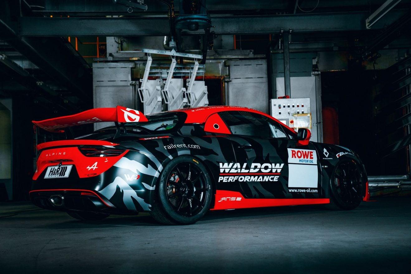 Alpine A110 GT4 Waldow Performance Noire