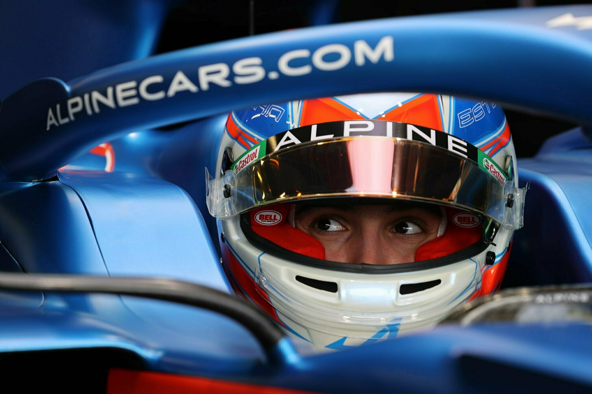 Alpine A521 F1 Team Esteban Ocon Silverstone test 2021