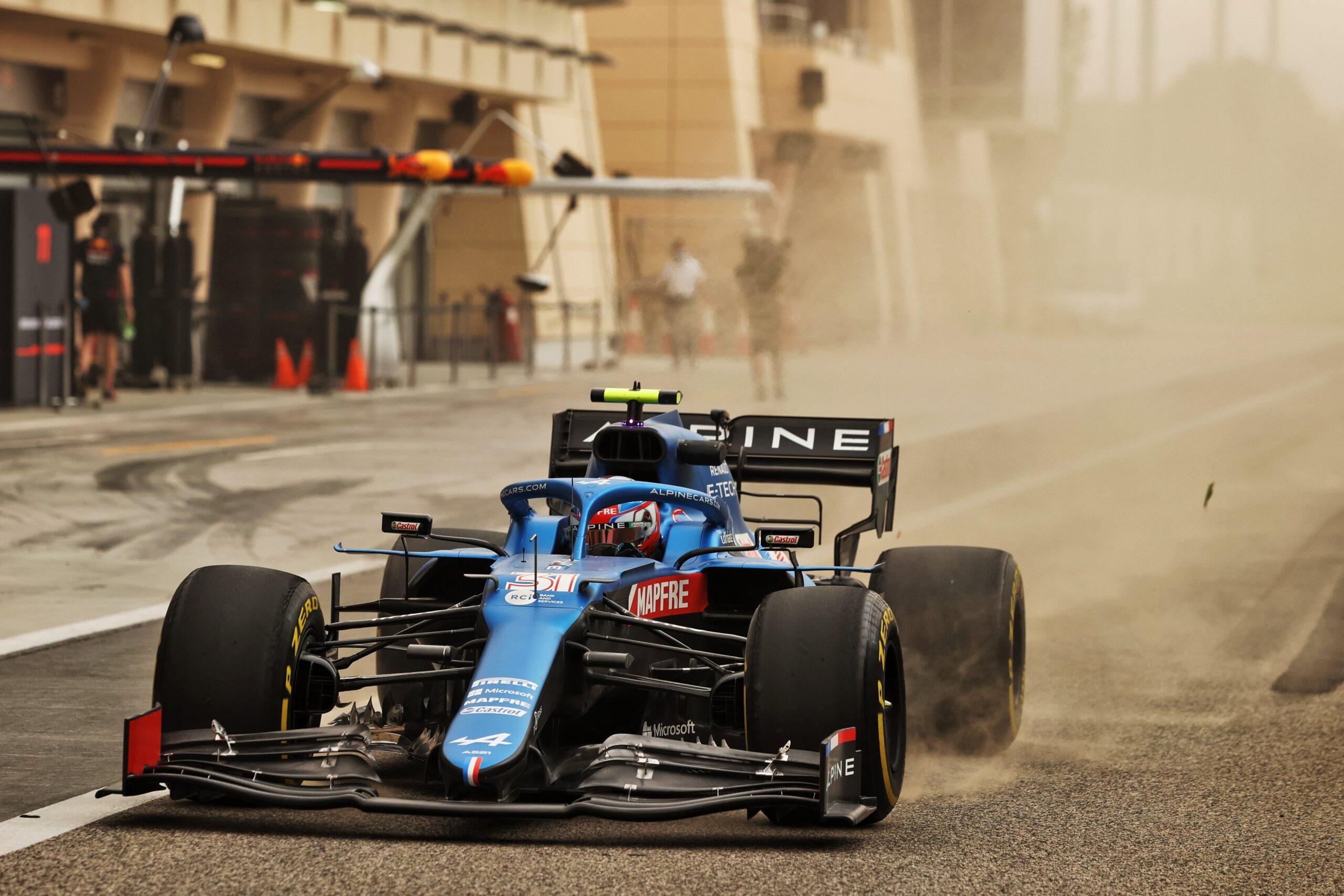 Alpine F1 Team A521 Bahrein test 1 4 scaled   Alpine F1 Team : premier jour des essais à Bahreïn